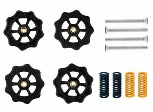 4Pcs Hot Bed Leveling Nuts Springs Pulleys For Creality Ender 3 Pro CR-10 V2 3D