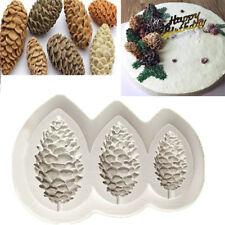 Cono de Pino Navidad Molde de Silicona Fondant Pastel Decoración Chocolate Sugarcraft Molde