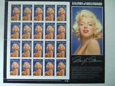 US Marilyn Monroe Legends of Hollywood 32¢ Stamps - Sheet of 20 - Mint