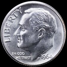 "1964-D Roosevelt 90% SILVER Dime ""About Uncirculated"" US Mint"