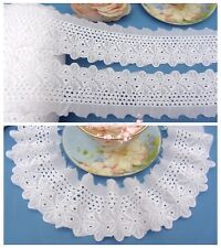 "2.5""*1Y Vintage Style Embroidered Cotton Lace Trim~Snow White~Stars~Sewing/DIY~"