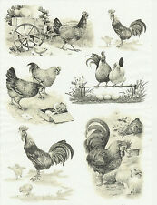 Papier de riz pour decoupage DECOPATCH Scrapbook Craft Sheet Easter FARM