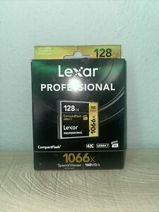 Lexar Professional 1066x 128GB VPG-65 CompactFlash card (Up to 160MB/s Read) LC