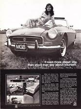 "1971 Mg Mgb Convertible photo ""Says More About You"" promo print ad"