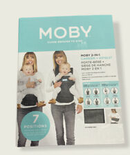 Moby Hip Seat and Baby Carrier - 2 in 1 Ergonomic Baby Carrier