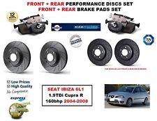FOR SEAT IBIZA 1.9TDi Cupra R 2004-2008 FRONT REAR PERFORMANCE BRAKE DISC + PADS