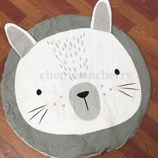 Large Round Cartoon Rabbit Carpet Gym Play Rug Crawling Game Mat For Baby Infant