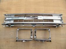 FIT FOR TOYOTA PICKUP 1989-91 2WD CHROME GRILLE LIGHT CASE W/CLIPS