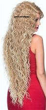 LONG SPIRAL CURLS LAYERED BLONDE MIX FULL LACE FRONT WIG HEAT OK HAIR PIECE