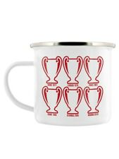 Enamel Mug The Reds Six Cups Football White 11x7.5cm