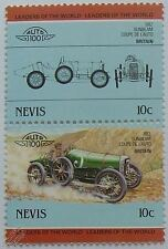 1912 SUNBEAM COUPE DE L'AUTO Car Stamps (Leaders of the World / Auto 100)