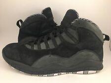 factory authentic 4f79e 53e57 Nike Air Jordan 10 X Stealth Black Grey 310805 003 Sz 11.5