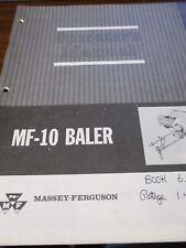 Massey-Ferguson MF-10 Baler Operator's Manual 1980