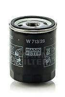 Mann & Hummel Oil Filter W 713/28 - BRAND NEW - GENUINE - 5 YEAR WARRANTY