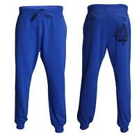 JUST CAVALLI MEN'S BEACHWEAR JOGGERS TROUSERS PANTS E4N0C0120.39215 - BLUE