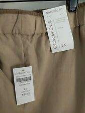 Coldwater Creek New With Tags Silk Linen Khaki Pants 2X