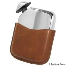 Novus Pewter Hip Flask in Leather Case