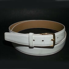 Glove Leather White Women Belt Size 42 Split Cowhide 30mm Wide Made in USA