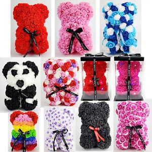 "Rose Bear Valentines Day Birthday Gifts Artificial Flower Teddy San Valentin 9"""