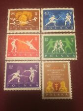 Poland Stamps 1963 MNH World Fencing Championship In Gdansk (d)