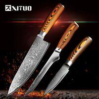 XITUO Ensemble de couteaux de cuisine Japonais en acier Damas VG10 1 Chef 1