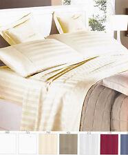 Complete double duvet cover bedding satin cotton Italy Beige GFF line