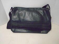 Calvin Klein Black Nylon Leather Soft Briefcase Attache Computer Case New