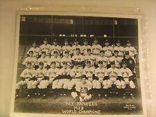 """1938 World Champions NEW YORK YANKEES 8.5"""" X 11"""" Photo Print [c4]"""