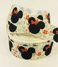 "BTY 1"" Disney Minnie Mouse Heads Grosgrain Ribbon Hair Bows Lanyards Lisa"
