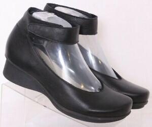 Loints Of Holland 18200 Black Leather Pump Ankle Strap Shoes Womens EU 36 US 8.5