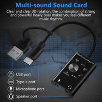 Headset 7.1 External Sound Card For Laptop USB Audio 3D Sound Card Microph Js