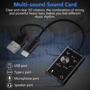 Headset 7.1 External Sound Card For Laptop USB Audio 3D Sound Card Microphon Gt