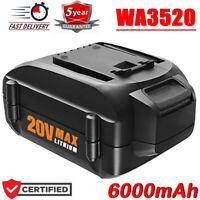 New 20V MAX 6000mAH Battery for WORX WA3520 Lithium WA3525 WA3575 WA3578 WG155s