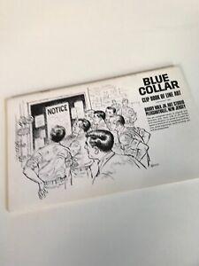 1968 Blue Collar Clip Book Line Art Harry Volk Jr. Art Studio VINTAGE No. 478