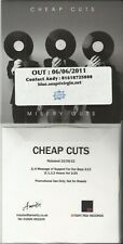 Cheap Cuts Promo CDS x 2 (Misery guts/A message of support for our boys)