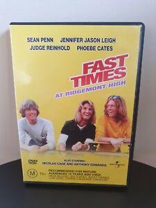 Fast Times At Ridgemont High DVD Jennifer Jason Leigh Region 4