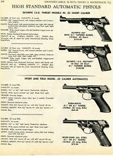 1970 Print Ad High Standard Olympic ISU Military, Dura-Matic & Sport-King Pistol