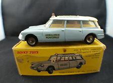 Dinky Toys F n° 556 Citroën ID19 Ambulance municipale en boite