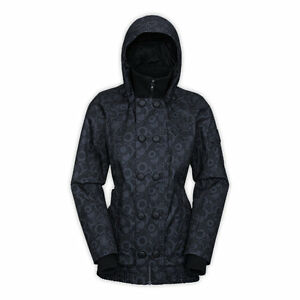 Women's North Face Black Insulated Blossom Ski Snow Jacket M New