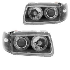 Scheinwerfer Set VW Polo III 6N 94-99 klarglas/schwarz Angel Eyes DE-Licht YKX