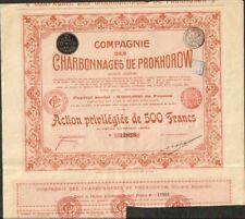 CHARBONNAGES DE PROKHOROW 1912 (RUSSIE) (D)