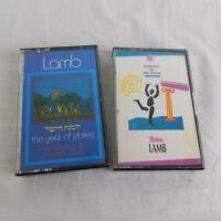 Lot of 2 Lamb Music Cassettes Christian Praise Worship Dancing Jerusalem Jubilee