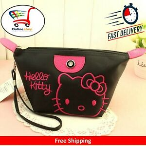 New Reusable Hello Kitty Waterproof Cosmetic Bag Makeup Box Storage Case Purse
