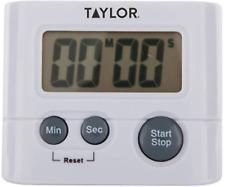 "Taylor 582721 Digital Kitchen Multi-Purpose Timer Clock 0.625"" LCD Readout"