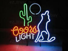 """New wolf cactus moon Coors light Lamp Neon Sign 20""""x16"""""""