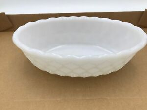 Vintage Milk Glass Candy Dish Oval E. O. Brody Co. Butter Table White