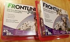 2 Frontline Plus for Dogs 45-88 lbs - purple TOTAL OF 6 DOSES
