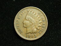 NEW INVENTORY  XF 1903 INDIAN HEAD CENT PENNY w/ DIAMONDS & FULL LIBERTY #169i