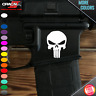 (2) American Sniper Skull AR-15 Lower Gun Vinyl Decal Sticker 5.56 Mag Skins