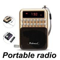 AM FM Radio Stereo Portable Pocket Sports Digital LCD Display 28 Band MP3